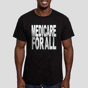 Medicare For All Men's Fitted T-Shirt (dark)