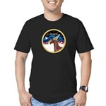 XmsSunrs/Horse (Ar-Br) Men's Fitted T-Shirt (dark)