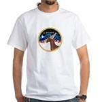 XmsSunrs/Horse (Ar-Br) White T-Shirt