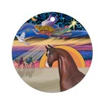 XmsStar/Horse (Ar-Br) Ornament (Round)