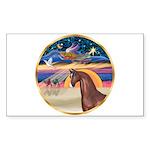 XmsStar/Horse (Ar-Br) Rectangle Sticker