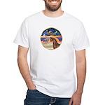 XmsStar/Horse (Ar-Br) White T-Shirt