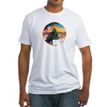 XmsMusic2/Horse (Ar-blk) Fitted T-Shirt