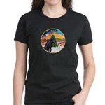 XmsMusic2/Horse (Ar-blk) Women's Dark T-Shirt