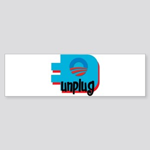 Unplug Obama Logo Bumper Sticker