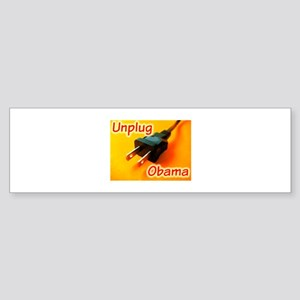 Unplug Obama Picture Bumper Sticker
