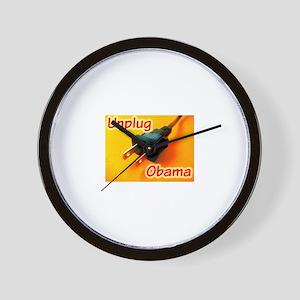 Unplug Obama Picture Wall Clock