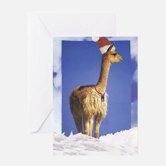 Cellular Llama Greeting Cards