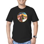 XmsMusic2/Horse (Ar-Br) Men's Fitted T-Shirt (dark