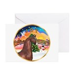 XmsMusic2/Horse (Ar-Br) Greeting Cards (Pk of 10)