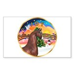 XmsMusic2/Horse (Ar-Br) Rectangle Sticker 10 pk)