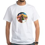 XmsMusic2/Horse (Ar-Br) White T-Shirt