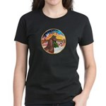 XmsMusic2/Horse (Ar-Br) Women's Dark T-Shirt