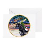 XmsMagic/Horse (Ar-blk) Greeting Cards (Pk of 10)