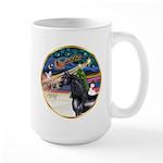 XmsMagic/Horse (Ar-blk) Large Mug
