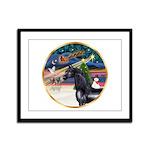 XmsMagic/Horse (Ar-blk) Framed Panel Print