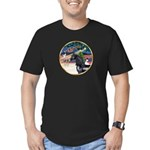 XmsMagic/Horse (Ar-blk) Men's Fitted T-Shirt (dark