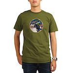 XmsMagic/Horse (Ar-blk) Organic Men's T-Shirt (dar
