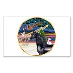 XmsMagic/Horse (Ar-blk) Rectangle Sticker 10 pk)