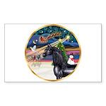 XmsMagic/Horse (Ar-blk) Rectangle Sticker