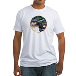 XmsMagic/Horse (Ar-blk) Fitted T-Shirt