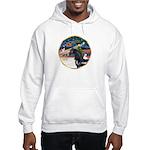 XmsMagic/Horse (Ar-blk) Hooded Sweatshirt
