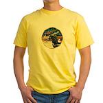 XmsMagic/Horse (Ar-blk) Yellow T-Shirt