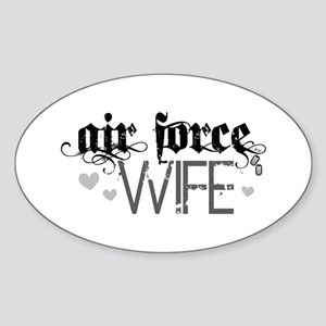 Air Force Wife Oval Sticker