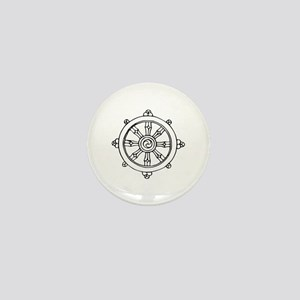 Dharma Wheel Mini Button