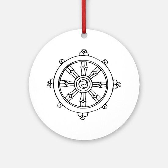 Dharma Wheel Ornament (Round)