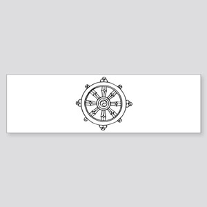 Dharma Wheel Bumper Sticker