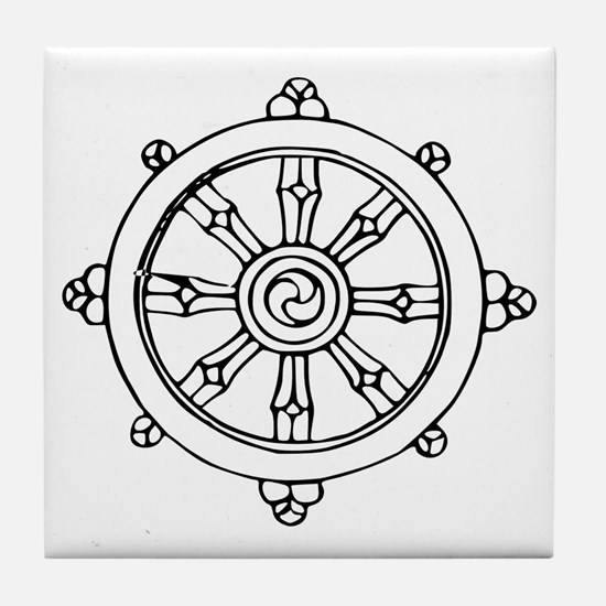 Dharma Wheel Tile Coaster