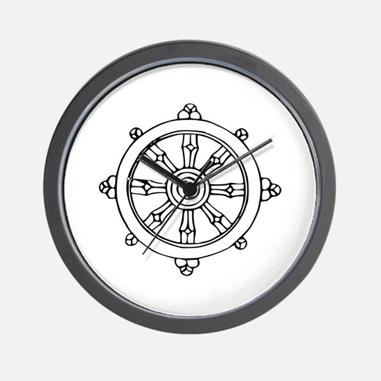 Dharma Wheel Wall Clock