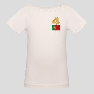 Team Portugal - #4 Organic Baby T-Shirt