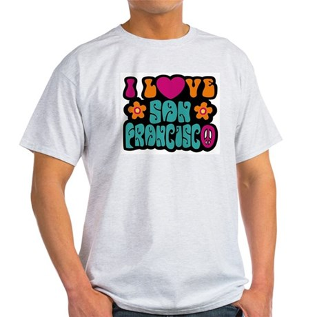 I Love San Francisco Ash Grey T-Shirt