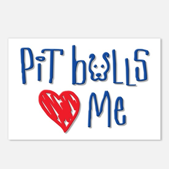 Pit Bulls Love Me Postcards (Package of 8)
