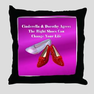 Fuschia Cinderella Throw Pillow