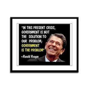 AMERICA'S GREATEST PRESIDENT Framed Panel Print