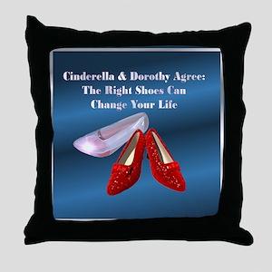 Dk. Blue Shoes Throw Pillow