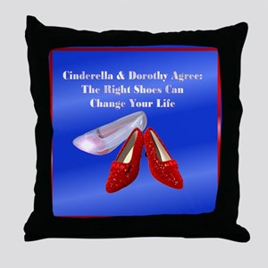 Royal blue shoes Throw Pillow