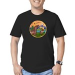 XmsFntsy/Horse (Ar-Br) Men's Fitted T-Shirt (dark)