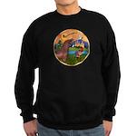 XmsFntsy/Horse (Ar-Br) Sweatshirt (dark)