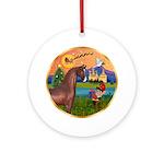XmsFntsy/Horse (Ar-Br) Ornament (Round)