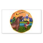 XmsFntsy/Horse (Ar-Br) Rectangle Sticker 10 pk)