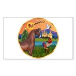 XmsFntsy/Horse (Ar-Br) Rectangle Sticker