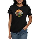 XmsFntsy/Horse (Ar-Br) Women's Dark T-Shirt