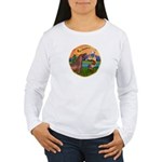 XmsFntsy/Horse (Ar-Br) Women's Long Sleeve T-Shirt