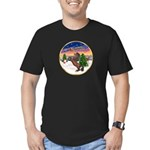 TakeOff2/Horse (Ar-Br) Men's Fitted T-Shirt (dark)
