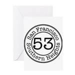 Circles 53 Southern Heights Greeting Card