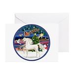 XmsMagic/Horse (Ar-W) Greeting Cards (Pk of 10)